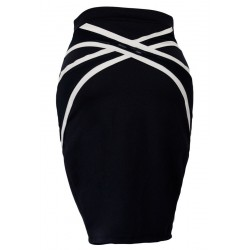 Gonna donna blu scuro tubino aderente sportiva casual sexy skirt fashion sexi