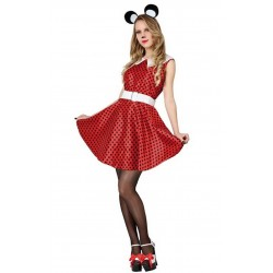 COSTUME VESTITO CARNEVALE abito HALLOWEEN Minnie Mickey Mouse TOPOLINA DONNA