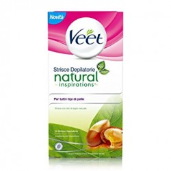 Veet Strisce Depilatorie Viso Natural Inspirations Argan Oil 16 Pezzi Easy Strip