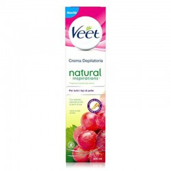 VEET crema depilatoria natural inspirations con olio di semi d'uva 200 ml NUOVA