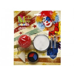 Kit completo halloween carnevale PAGLIACCIO Trucco Make Up Cera Naso clown