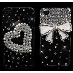 Glamour Cover iPhone 4 / 4s sexy moda strass perle  sexy cuore fiocco fashion idea regalo [HEN20 - HEN10]