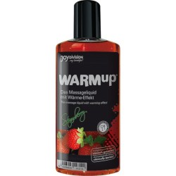 Lubrificante effetto calore WARM UP gusto FRAGOLA PRESERVATIVI CONDOM 150 ML