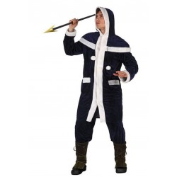 Costume Uomo Carnevale Eschimese Inuit adulto travestimento festa party blu