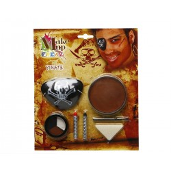 Carnevale Halloween Trucco Pirata con benda Cosplay kit make up originale festa