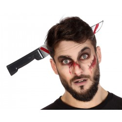 Cerchietto sangue horror halloween coltello insanguinato sangue carnevale testa