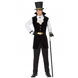 Costume VAMPIRO DRACULA ADULTO HALLOWEEN UOMO vestito carnevale FANCY DRESS