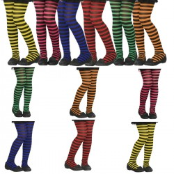 COLLANT STREGA RIGHE STREGHETTA Striped Tights FANCY DRESS BAMBINA KIDS WITCH