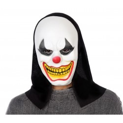 Maschera CLOWN HORROR assassino PAGLIACCIO halloween costume travestimento uomo
