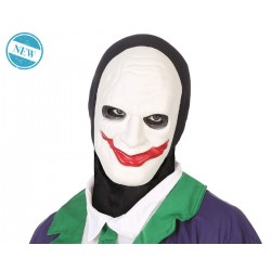 Maschera CLOWN JOCKER PAGLIACCIO halloween costume travestimento CARNEVALE Fancy