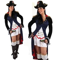 costume soldatessa francese travestimento carnevale donna adulto festa party