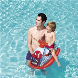 Cavalcabile Gonfiabile Moto Scooter Acqua Spiderman, 89x46 cm Piscina Mare
