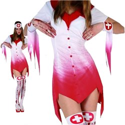 Costume Completo Infermiera Nurse Sexy Cosplay Halloween adult fancy dress Women